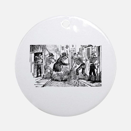 Patinadores Calaveras Ornament (Round)