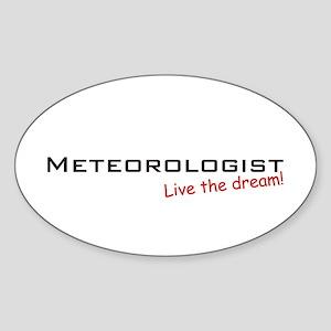Meteorologist / Dream! Oval Sticker