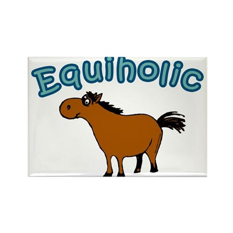 Equiholic. Horse Addict Rectangle Magnet (10 pack)