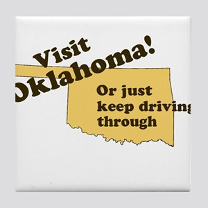 Visit Oklahoma, Or Just Keep Tile Coaster