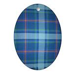 Blue Ridge Highlands Tartan Oval Ornament