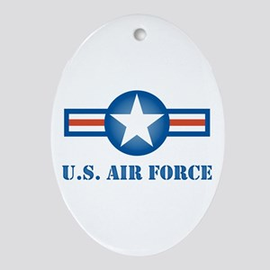 Air Force Roundel Oval Ornament