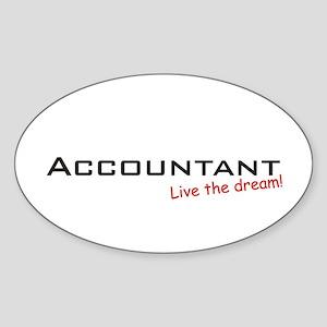 Accountant / Dream! Oval Sticker