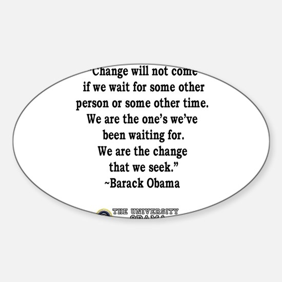"""""""Change"""" Quote-Obama Oval Decal"""