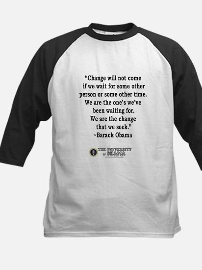 """""""Change"""" Quote-Obama Kids Baseball Jersey"""