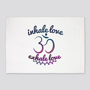 Inhale Exhale Yoga Teacher Gift for 5'x7'Area Rug