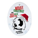 JFH Santa Chewie Oval Ornament