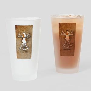 Vitruvian Dog iPhone7+ Drinking Glass