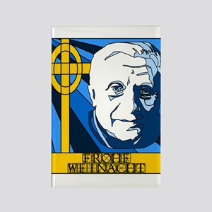Papst Benedikt Frohe Weinacht Rectangle Magnet