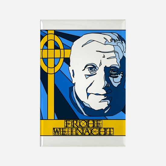 Papst Benedikt Frohe Weinacht Rectangle Magnet