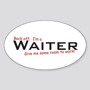 I'm a Waiter Oval Sticker