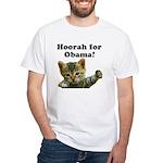 Hoorah for Obama White T-Shirt