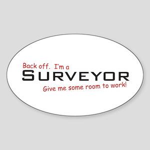 I'm a Surveyor Oval Sticker