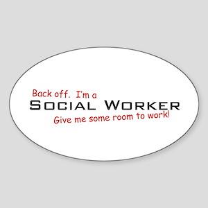 I'm a Social Worker Oval Sticker