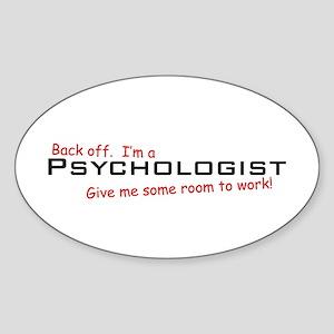 I'm a Psychologist Oval Sticker