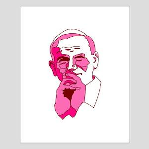 Pope John Paul II Pink Design Small Poster