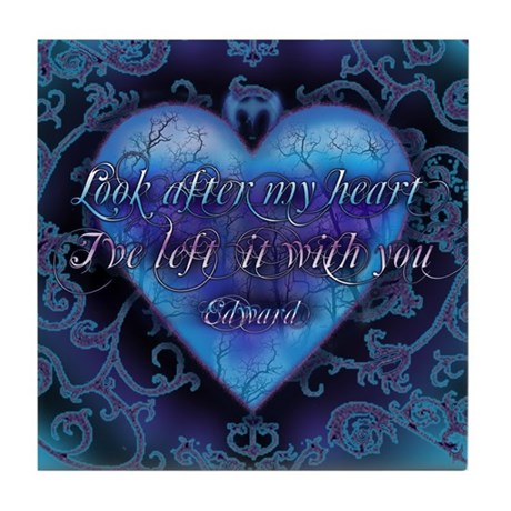 Edward's Heart-Twilight Tile Coaster