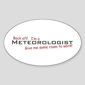 I'm a Meteorologist Oval Sticker