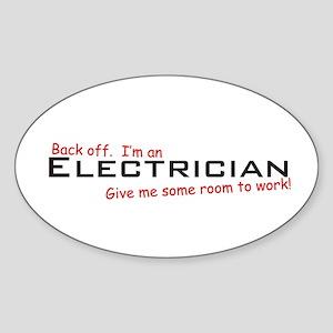 I'm an Electrician Oval Sticker