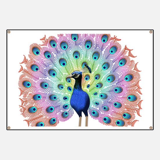 Colorful Peacock Banner