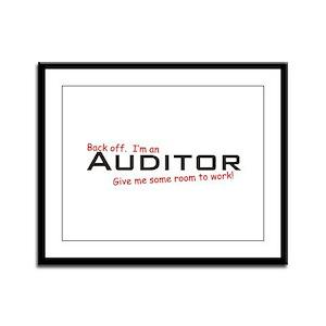 I'm a Auditor Framed Panel Print