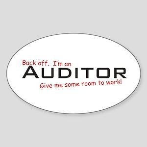 I'm a Auditor Oval Sticker