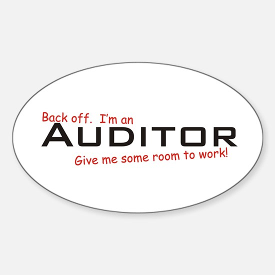 I'm a Auditor Oval Decal