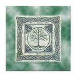 Celtic Tree of Life Knotwork Tile Coaster