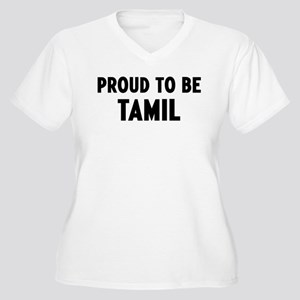 Proud to be Tamil Women's Plus Size V-Neck T-Shirt