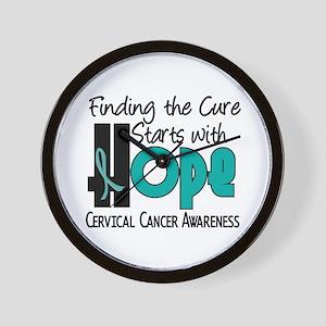 HOPE Cervical Cancer 4 Wall Clock