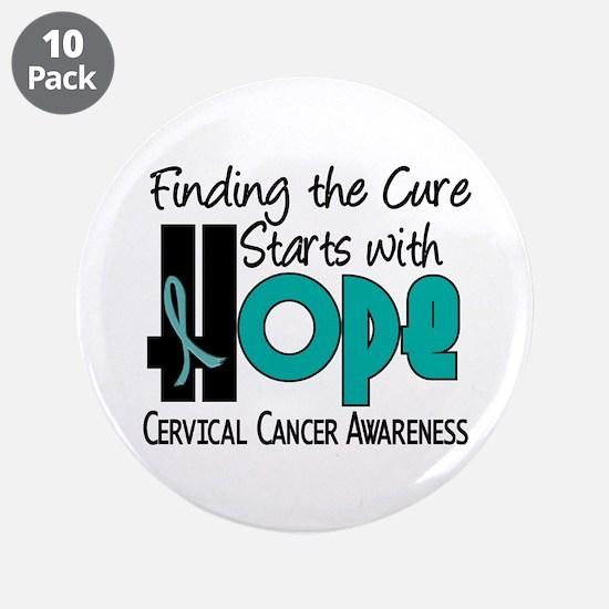 "HOPE Cervical Cancer 4 3.5"" Button (10 pack)"