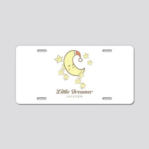 Moon and Stars Personalized Aluminum License Plate