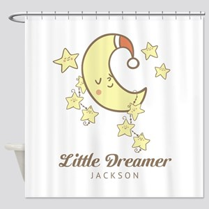 Moon and Stars Personalized Shower Curtain