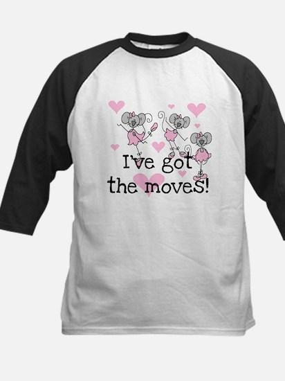 I've Got the Moves Kids Baseball Jersey