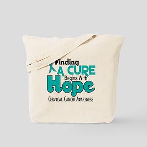HOPE Cervical Cancer 5 Tote Bag