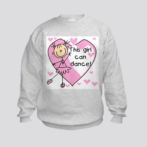 This Girl Can Dance Kids Sweatshirt