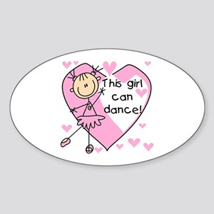 This Girl Can Dance Oval Sticker