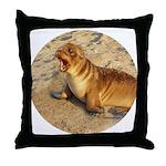 Baby Sea Lion Throw Pillow
