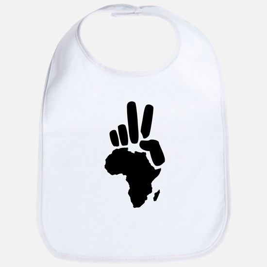 africa darfur peace hand vintage Bib