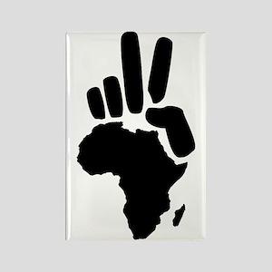 africa darfur peace hand vintage Rectangle Magnet