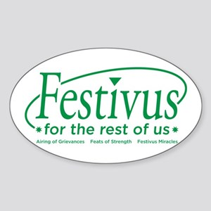FESTIVUS FOR THE REST OF US™ Oval Sticker