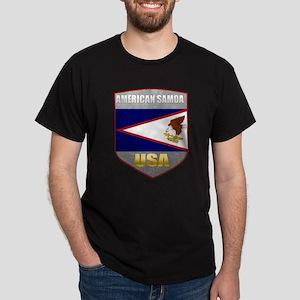 American Samoa USA Crest Dark T-Shirt
