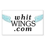 Whit Wings Rectangle Sticker