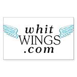 Whit Wings Rectangle Sticker 50 pk)