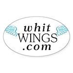Whit Wings Oval Sticker (50 pk)