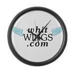 Whit Wings Large Wall Clock