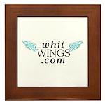 Whit Wings Framed Tile