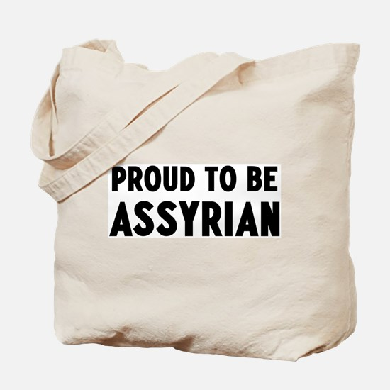 Proud to be Assyrian Tote Bag