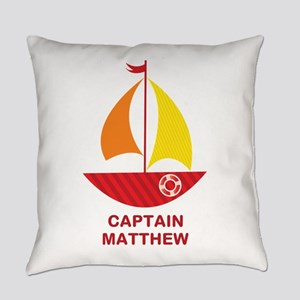 Captain Sailboat Personalized Everyday Pillow