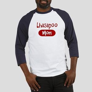 Lhasapoo mom Baseball Jersey